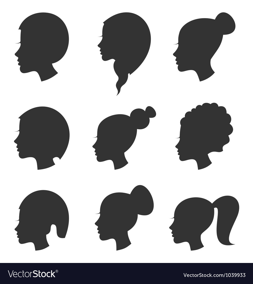 Hairstyle the girl vector | Price: 1 Credit (USD $1)