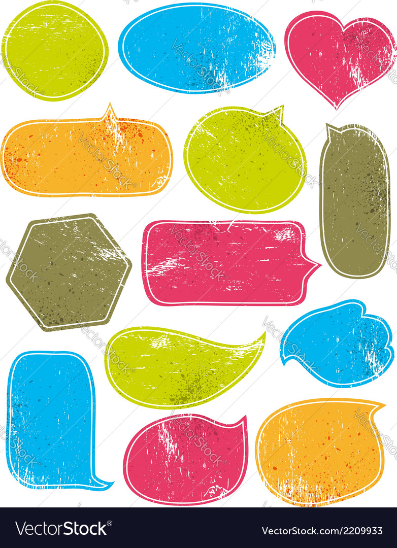 Set of special labels and bubble vector | Price: 1 Credit (USD $1)