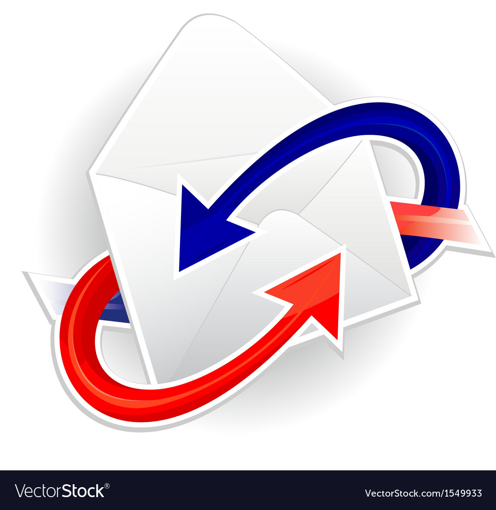 Symbol of incoming and outgoing mail vector | Price: 1 Credit (USD $1)