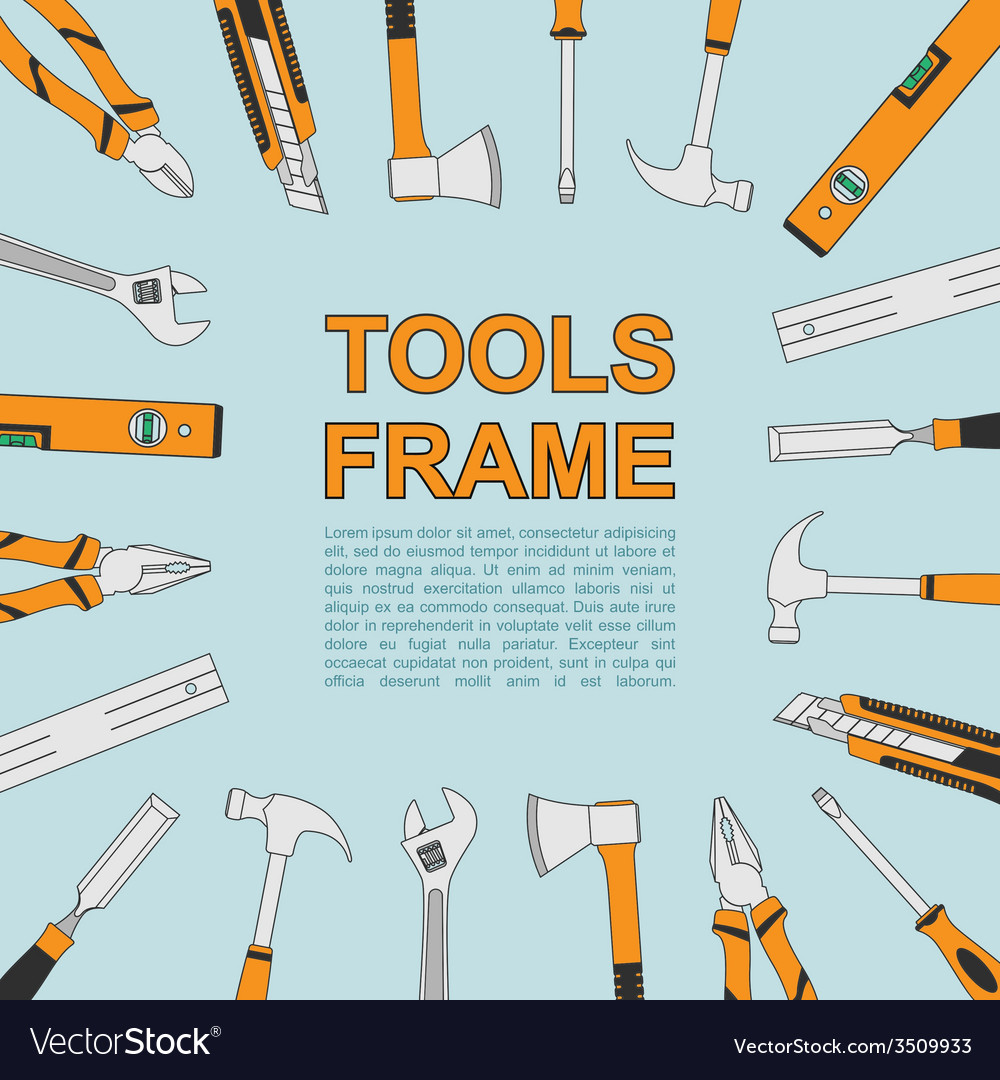 Tools frame 4 vector | Price: 1 Credit (USD $1)