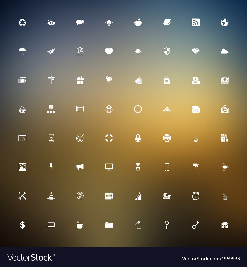 Universal outlined icons vector | Price: 1 Credit (USD $1)
