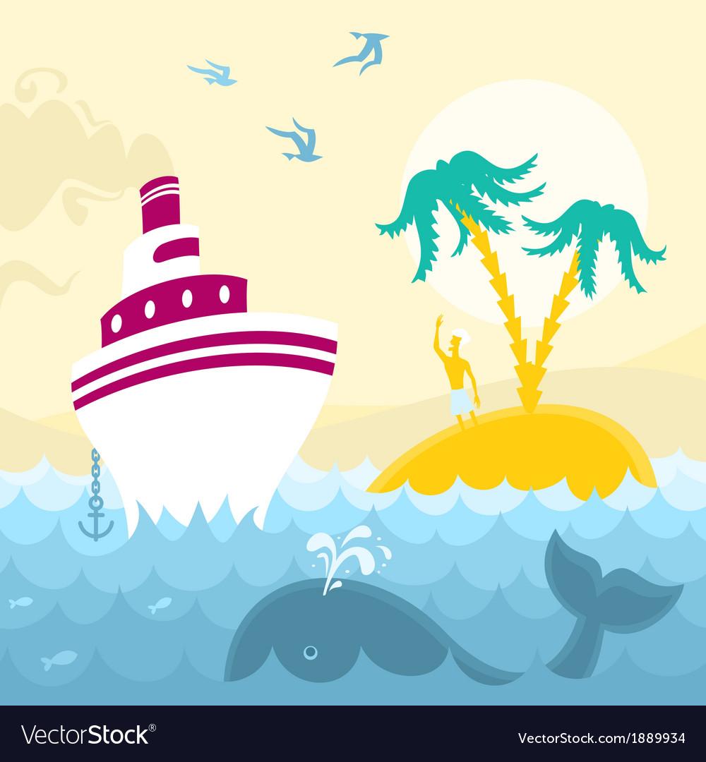 Adventures at sea vector | Price: 1 Credit (USD $1)
