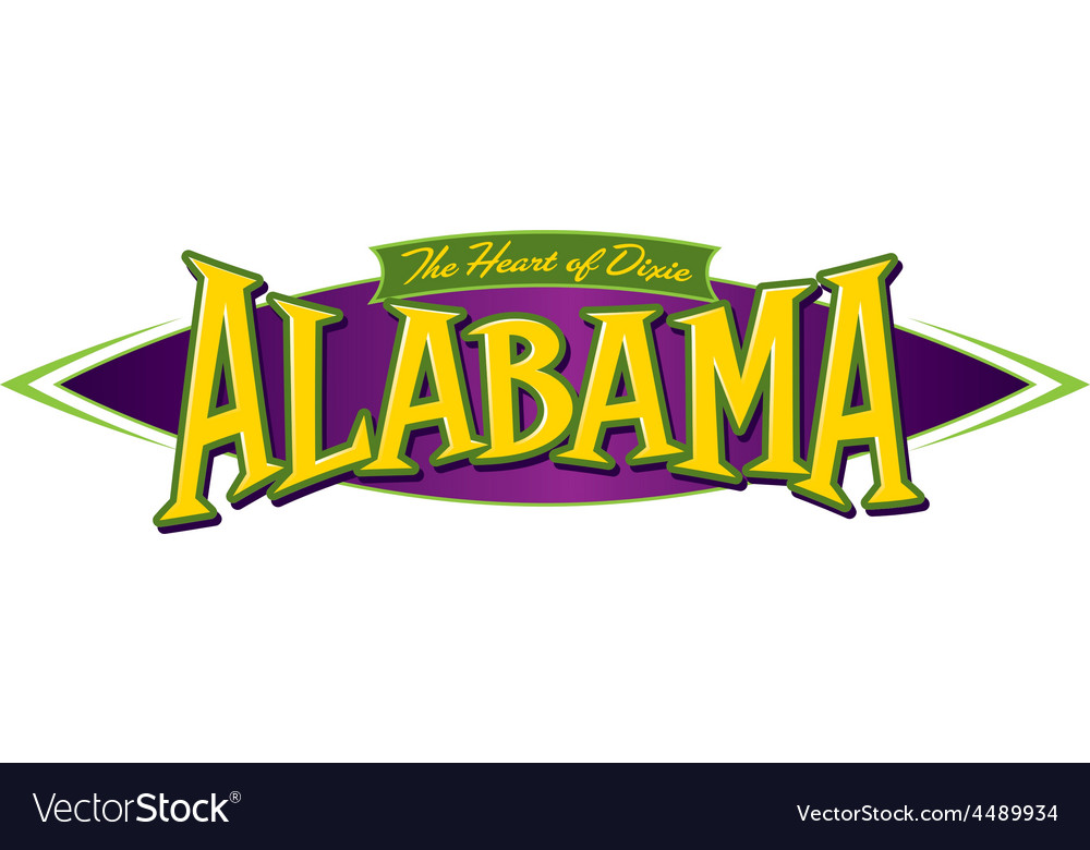 Alabama the heart of dixie vector | Price: 1 Credit (USD $1)