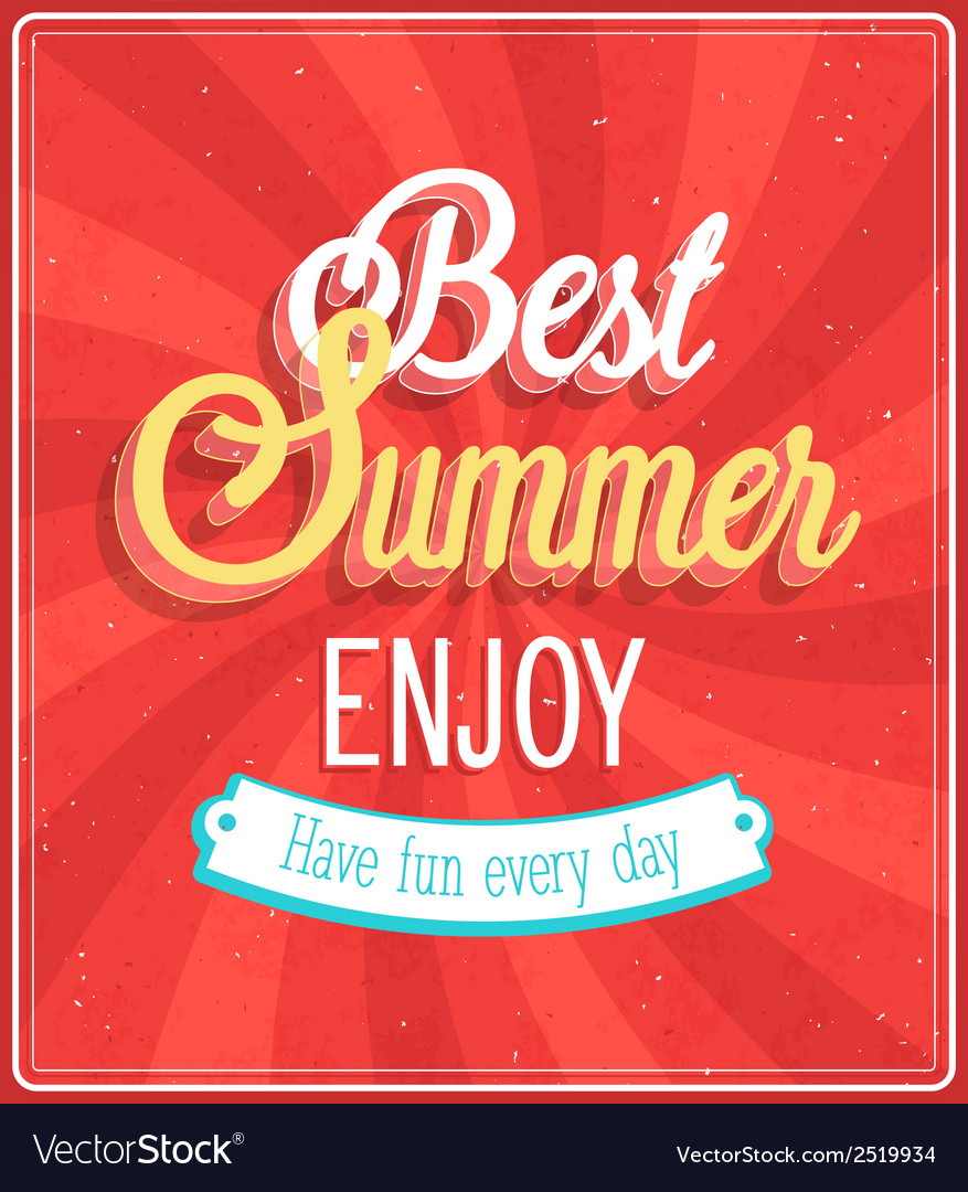 Best summer enjoy typographic design vector | Price: 1 Credit (USD $1)