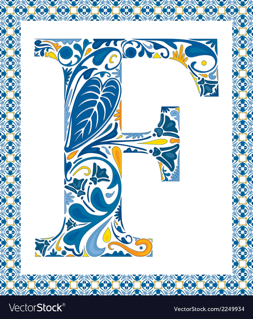 Blue letter f vector | Price: 1 Credit (USD $1)