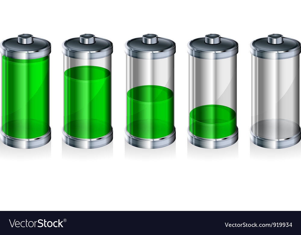 Glossy green battery vector | Price: 3 Credit (USD $3)