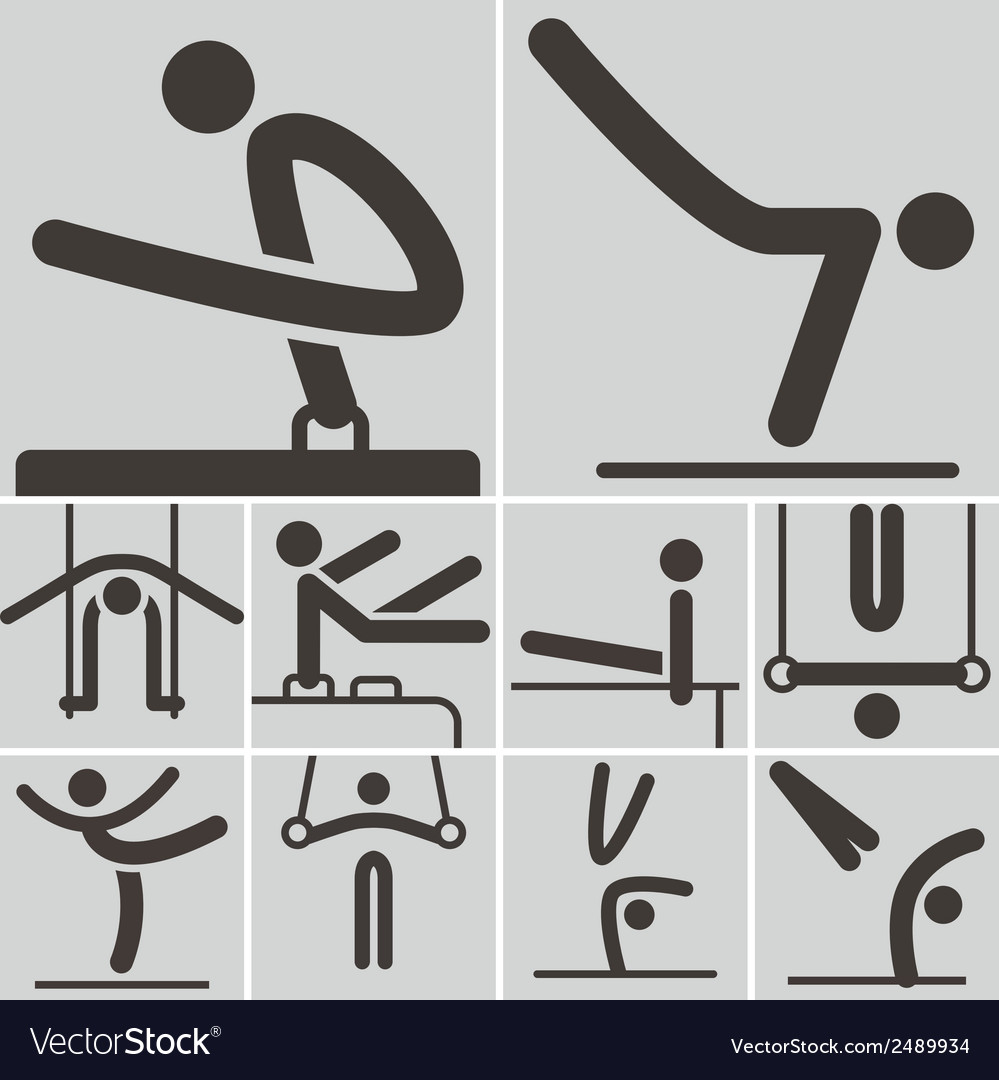 Gymnastics artistic icons vector | Price: 1 Credit (USD $1)
