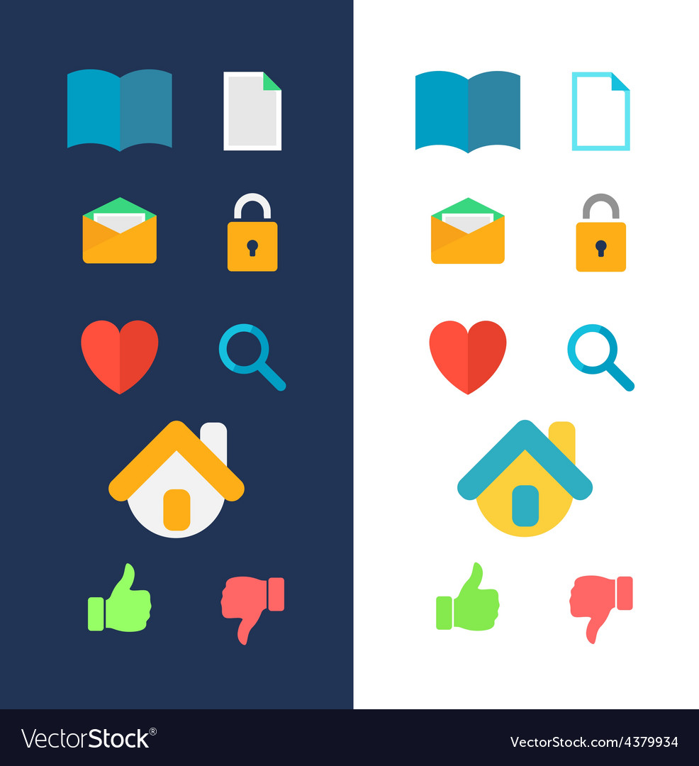 Icons for website vector | Price: 1 Credit (USD $1)