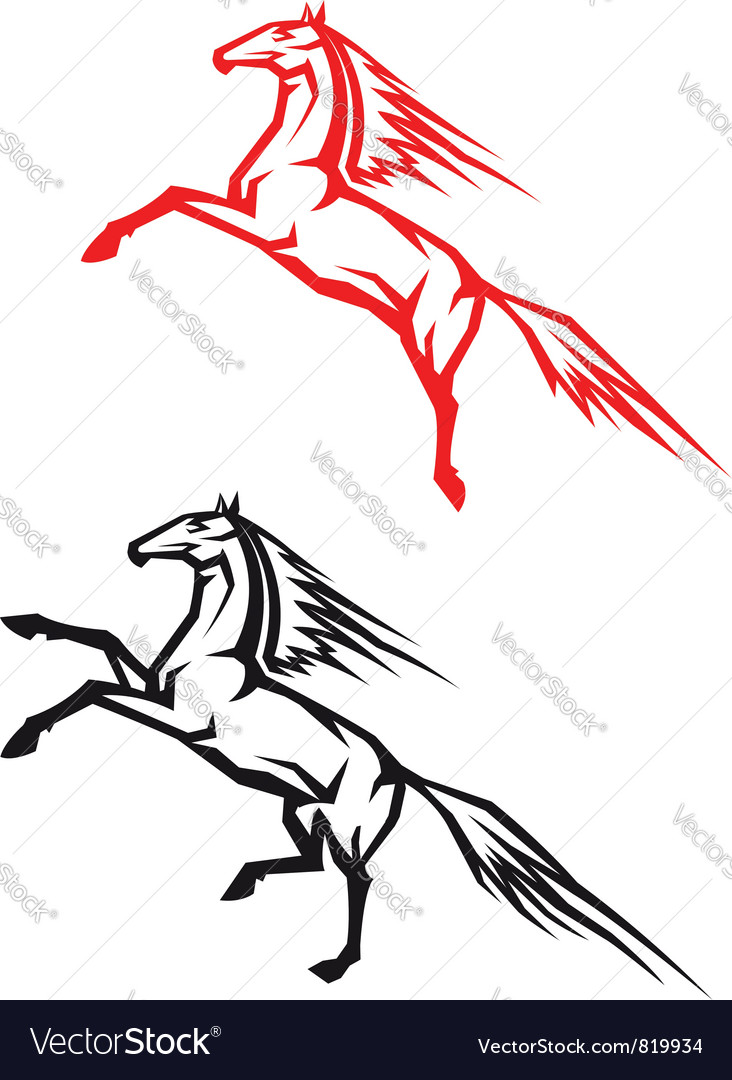 Jumping horses vector   Price: 1 Credit (USD $1)