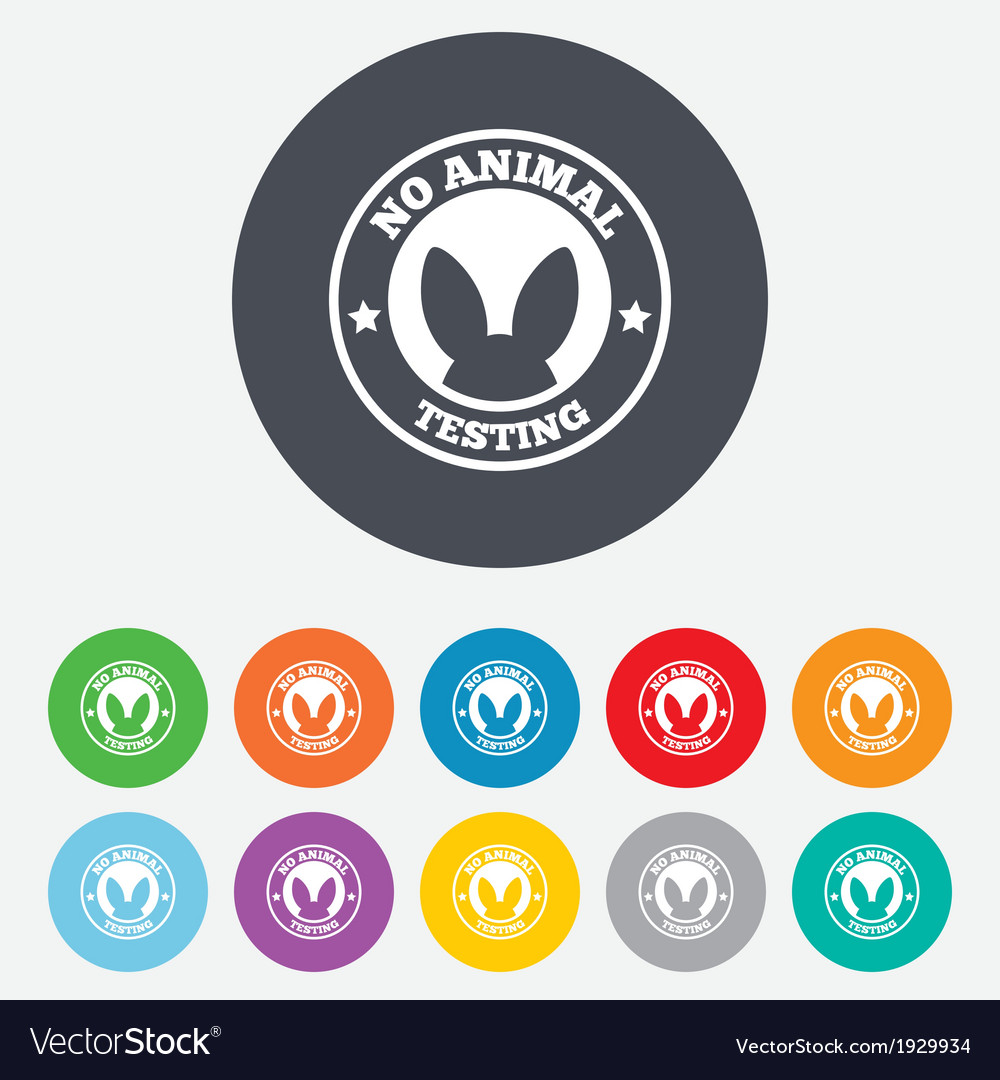 No animals testing sign icon not tested symbol vector | Price: 1 Credit (USD $1)
