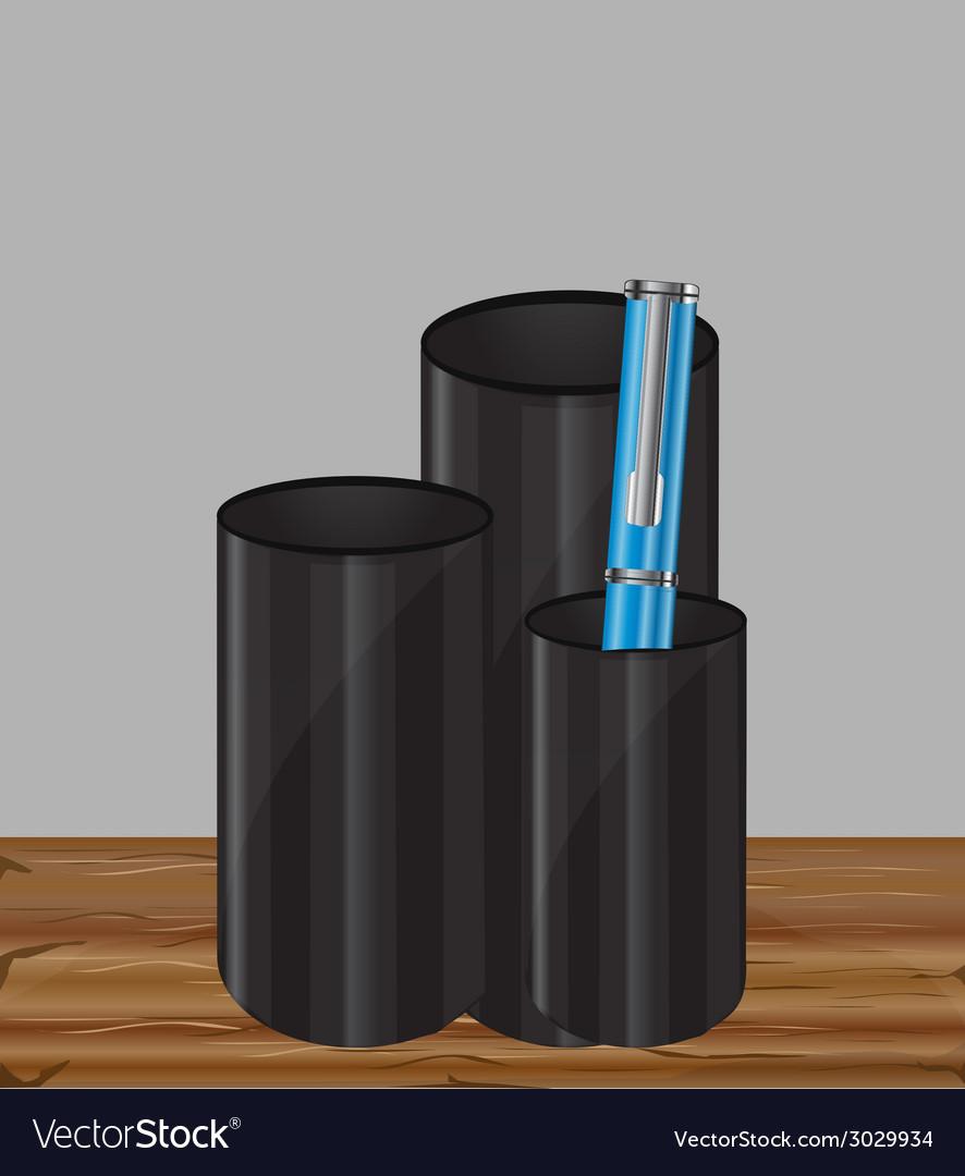 Pencil holder vector | Price: 1 Credit (USD $1)