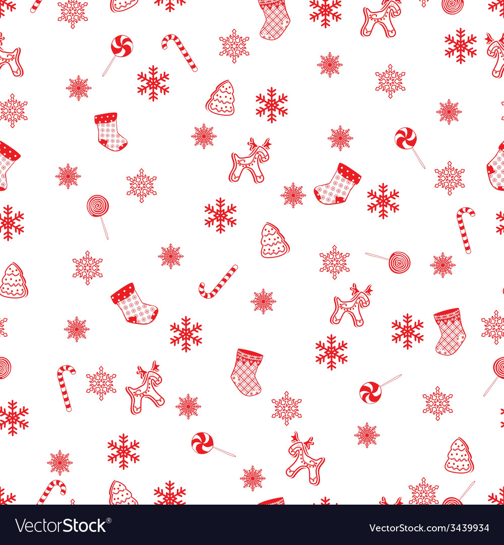Retro seamless christmas pattern vector | Price: 1 Credit (USD $1)