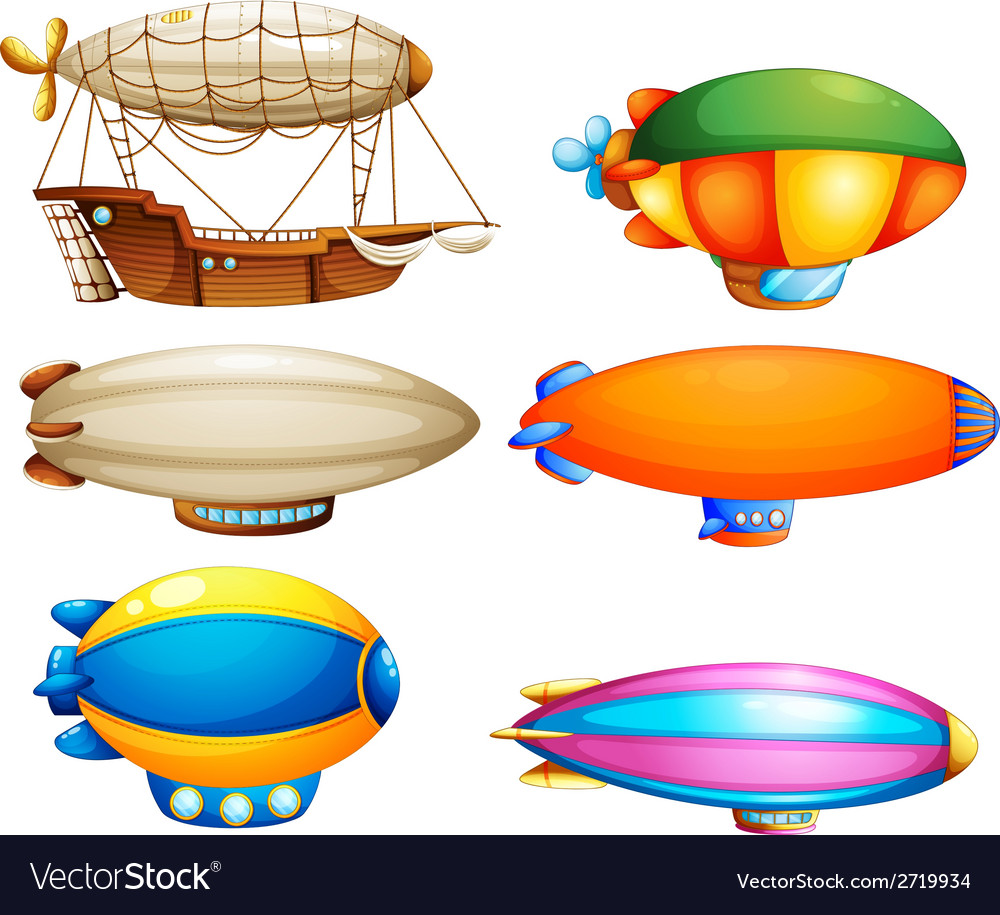 Sets of flying objects vector | Price: 1 Credit (USD $1)