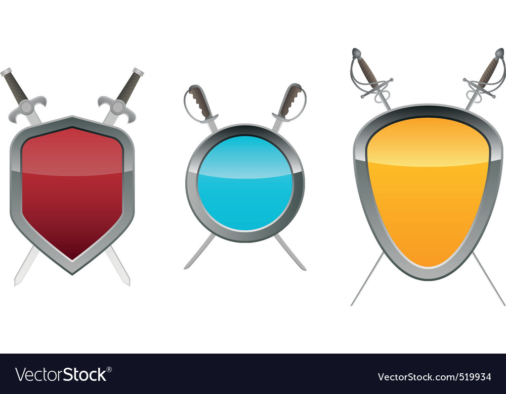 Shields with swords vector | Price: 1 Credit (USD $1)