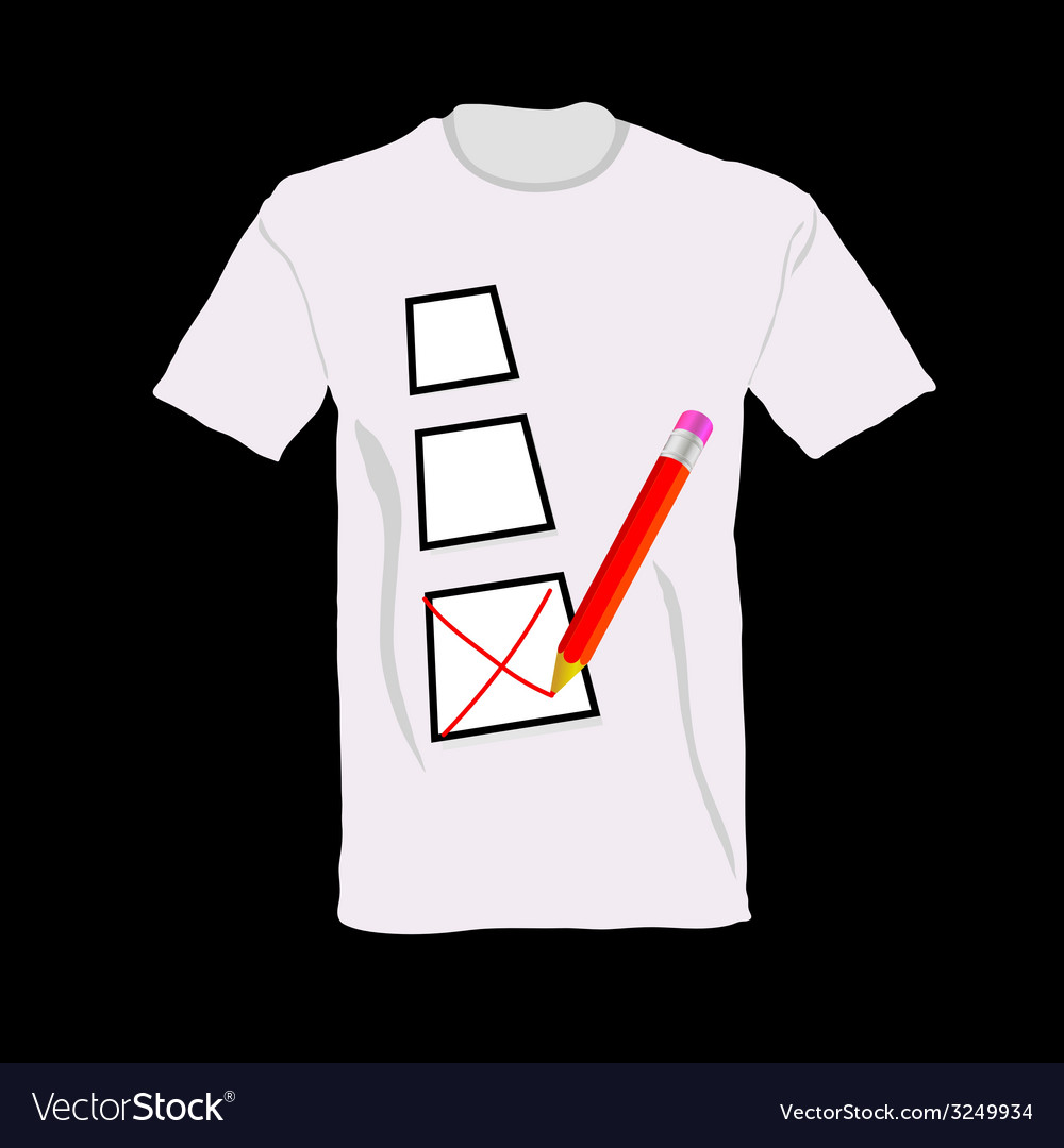 T-shirt with ticking vector | Price: 1 Credit (USD $1)