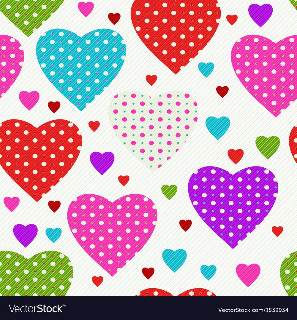 Vivid seamless valentine pattern vector | Price: 1 Credit (USD $1)