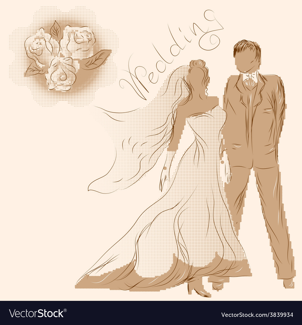 Wedding and flowers vector | Price: 1 Credit (USD $1)