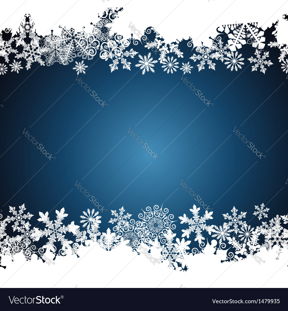Christmas border snowflake design background vector | Price: 1 Credit (USD $1)