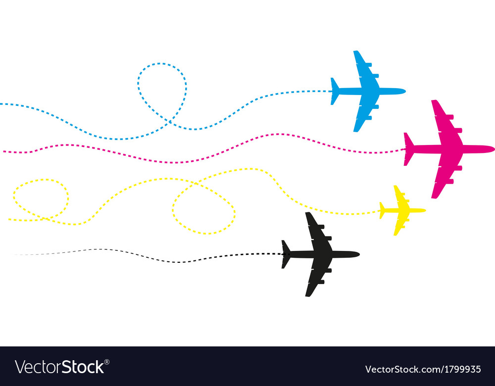 Cmyk planes vector | Price: 1 Credit (USD $1)
