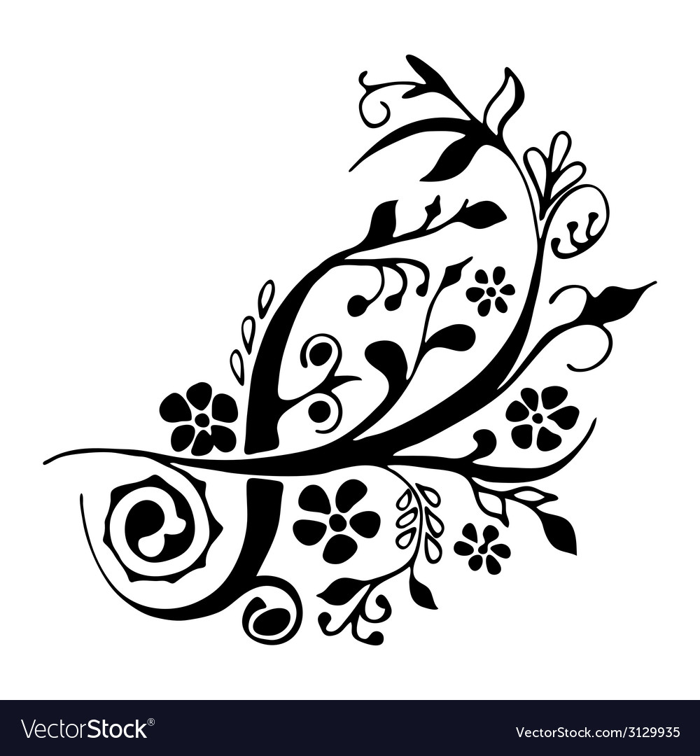 Cute floral design element vector | Price: 1 Credit (USD $1)