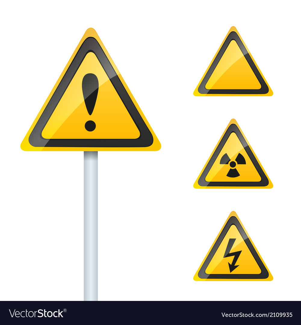 Damage signs vector | Price: 1 Credit (USD $1)