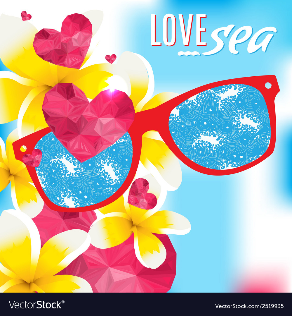 Love and the sea summer light vector | Price: 1 Credit (USD $1)