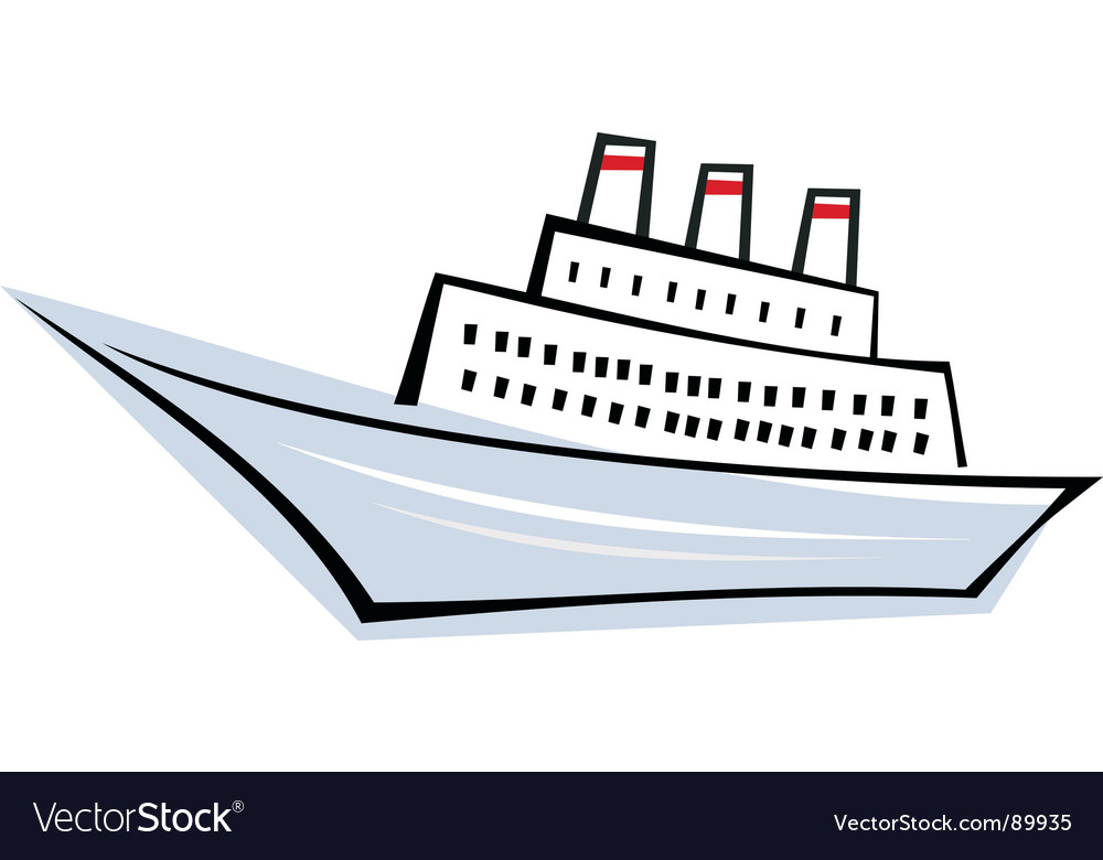 Ocean liner vector | Price: 1 Credit (USD $1)