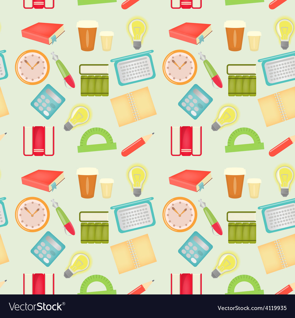 Office pattern vector | Price: 3 Credit (USD $3)