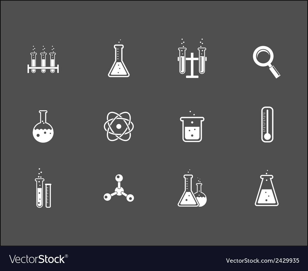 Set of science and research icons vector | Price: 1 Credit (USD $1)