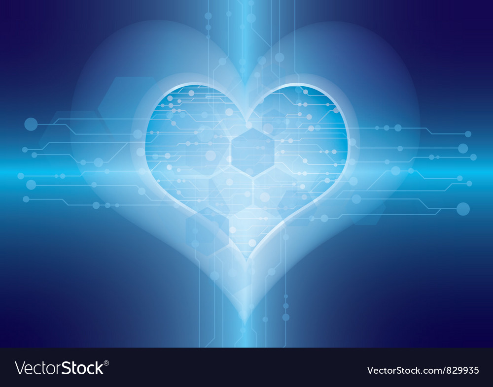 Technology in heart vector | Price: 1 Credit (USD $1)