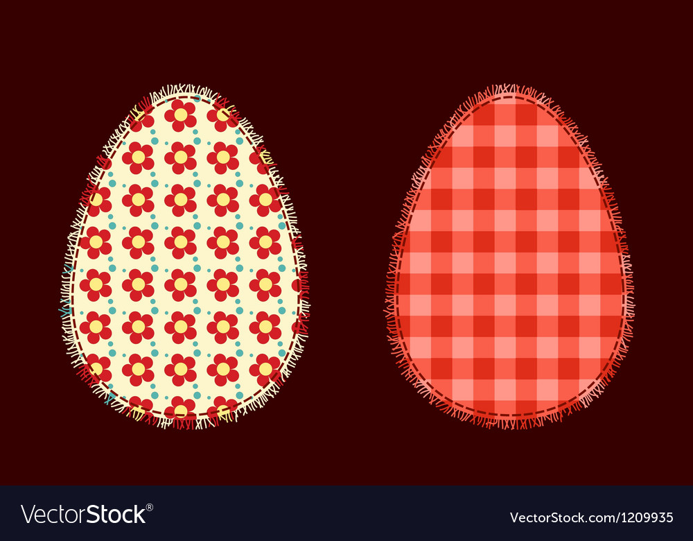 Two easter eggs vector | Price: 1 Credit (USD $1)