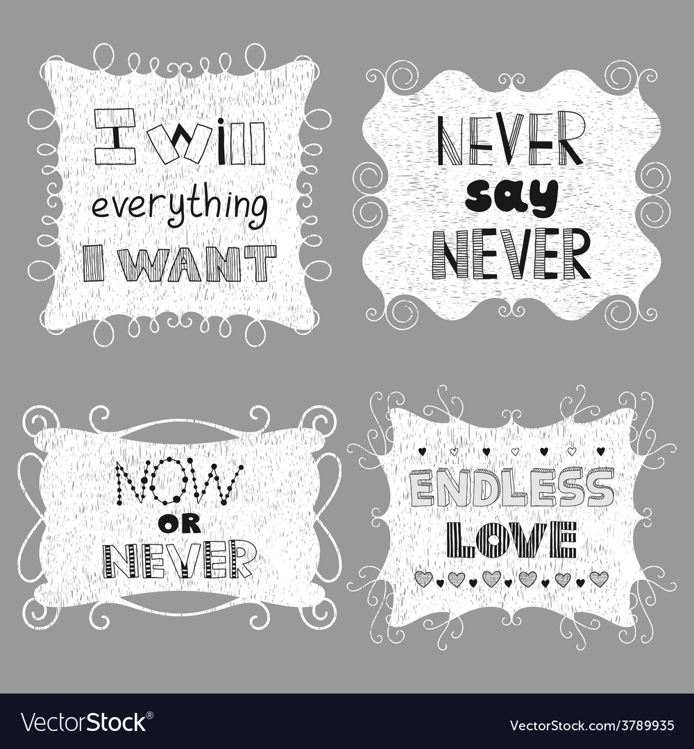 Vintage frames with inspiring motivating phrases vector | Price: 1 Credit (USD $1)