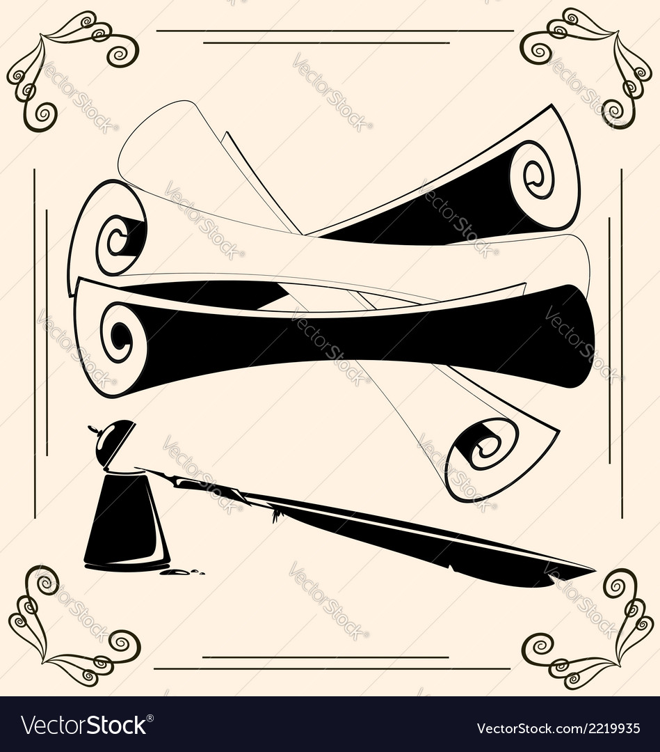 Vintage scrolls vector | Price: 1 Credit (USD $1)