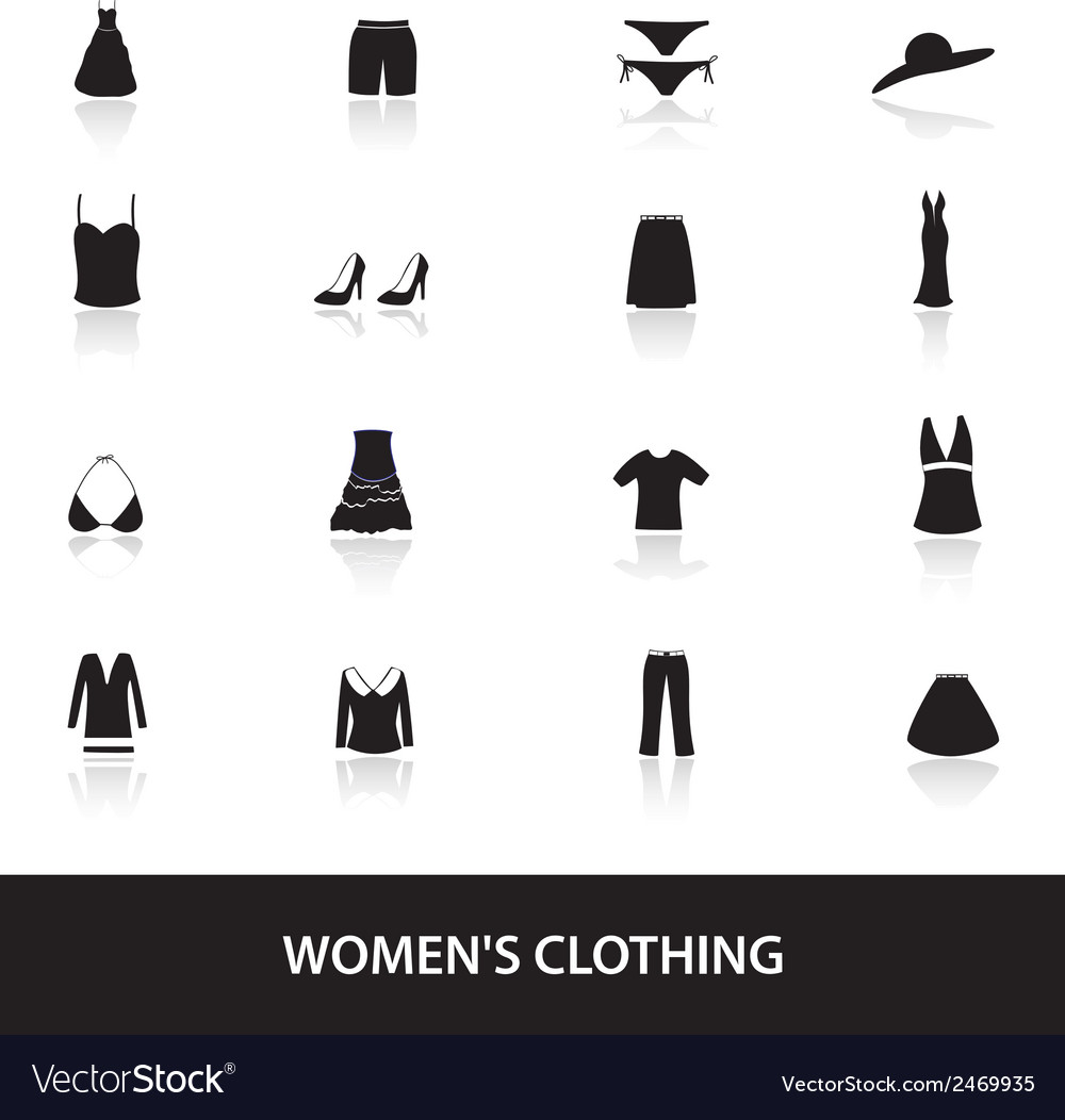 Womens clothing icons eps10 vector | Price: 1 Credit (USD $1)