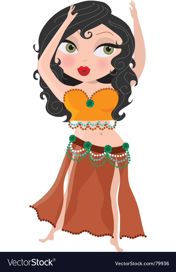 Belly dancer vector | Price: 3 Credit (USD $3)