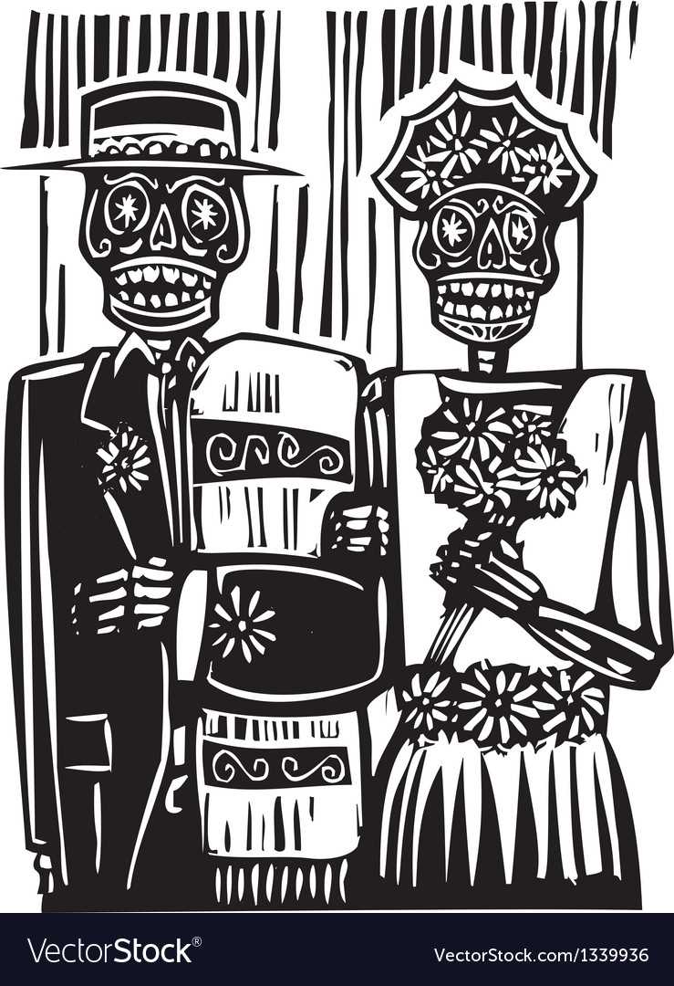 Day of the dead wedding vector | Price: 1 Credit (USD $1)