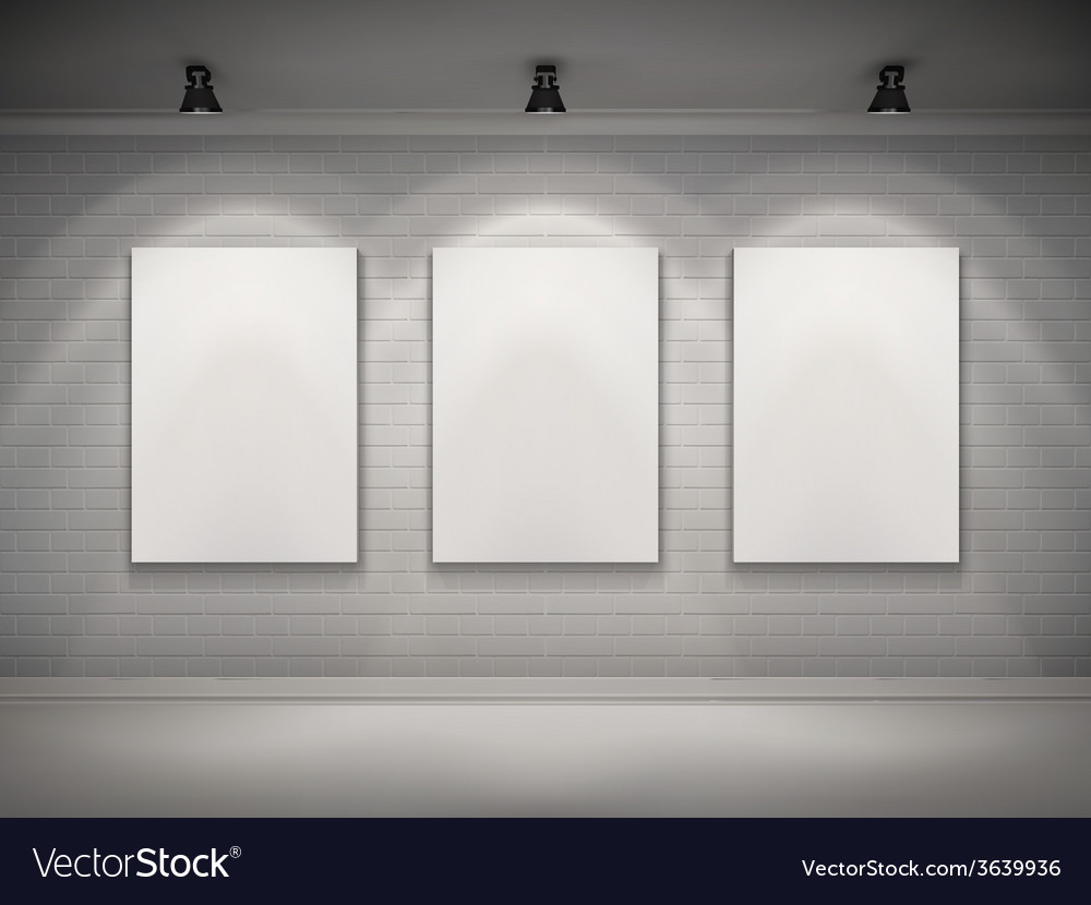 Gallery interior background vector | Price: 1 Credit (USD $1)