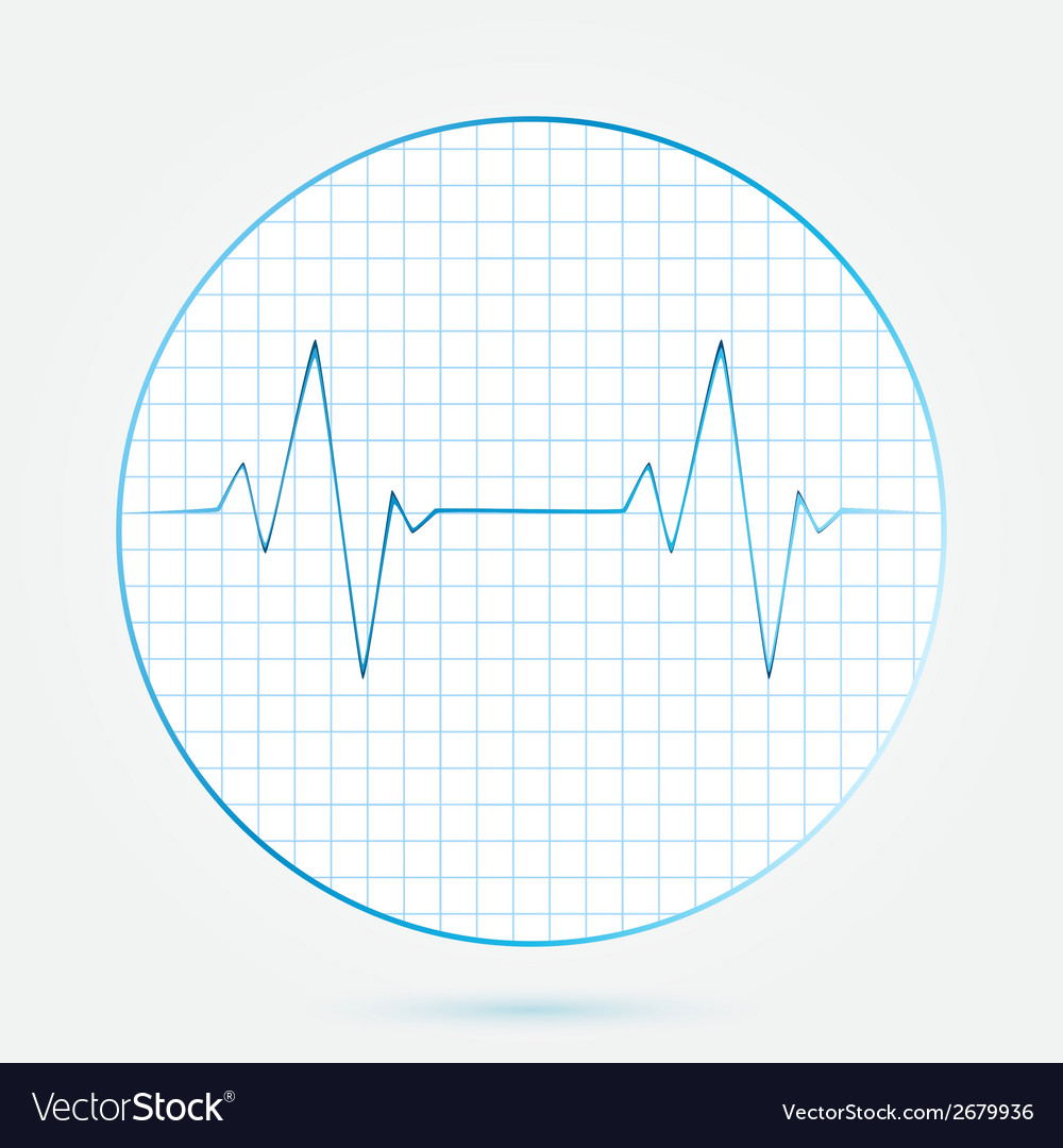 Heart beats cardiogram blue icon vector | Price: 1 Credit (USD $1)