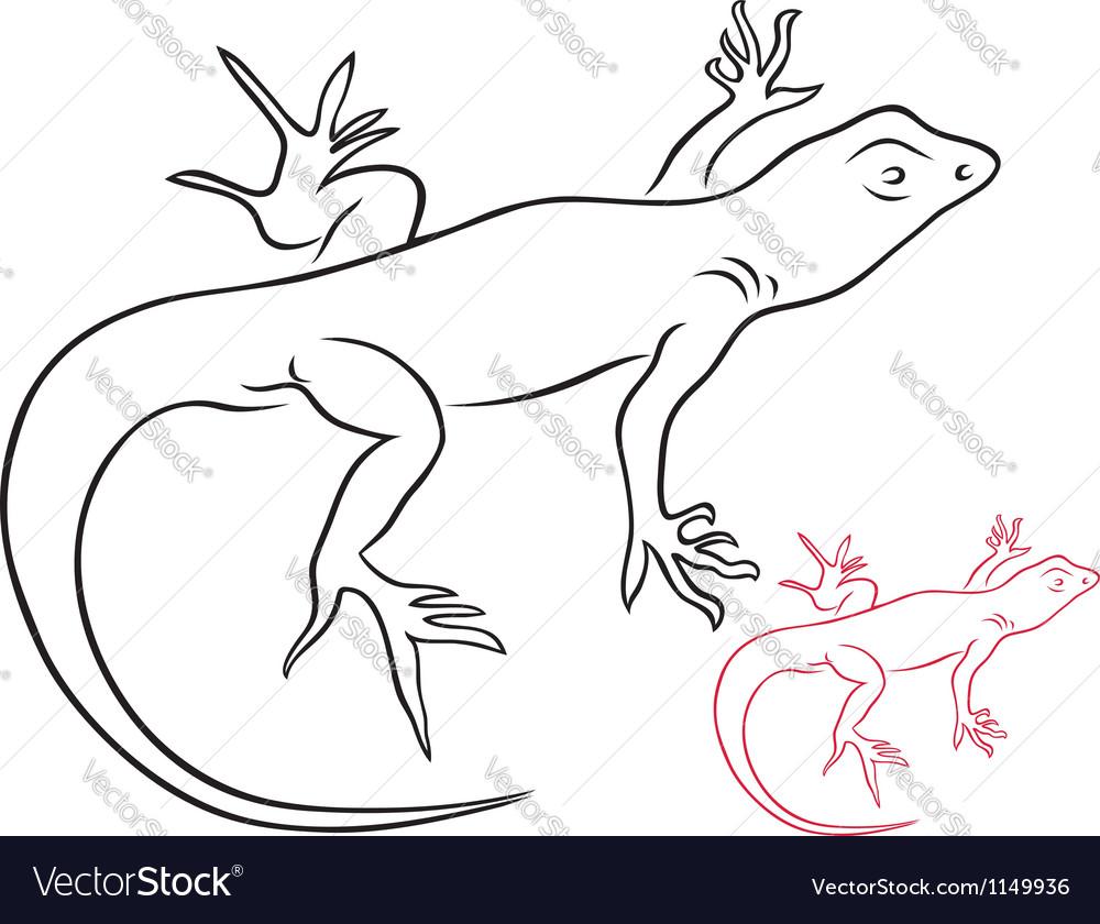 Lizard vector | Price: 1 Credit (USD $1)