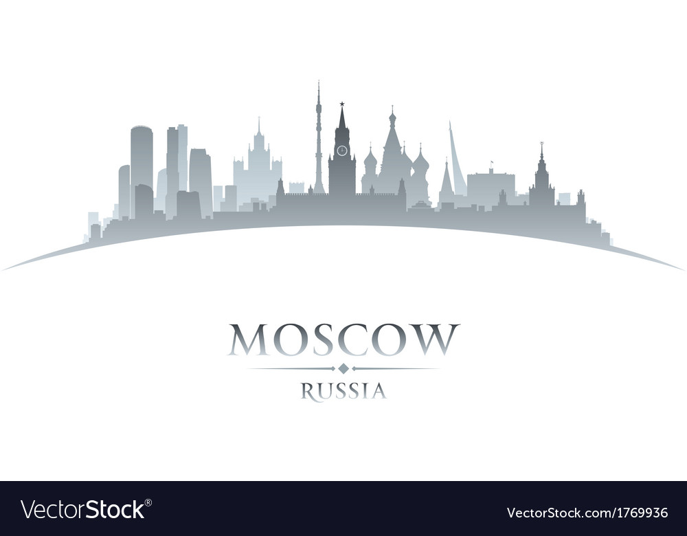 Moscow russia city skyline silhouette vector | Price: 1 Credit (USD $1)