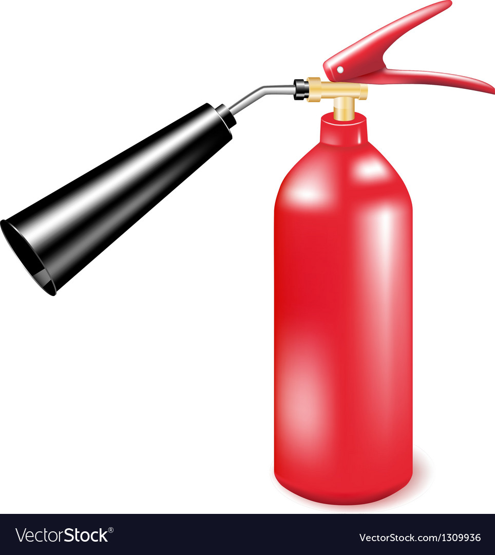 Red metal fire extinguisher vector | Price: 3 Credit (USD $3)