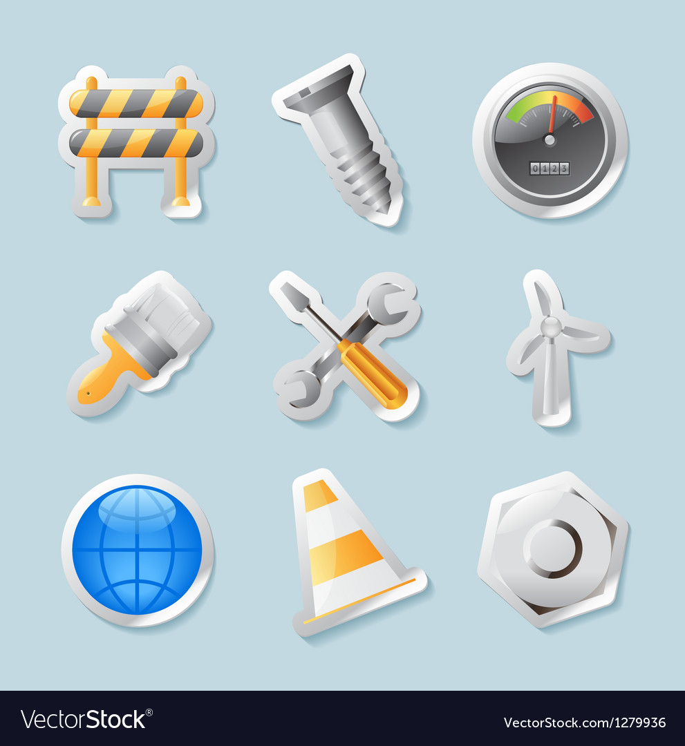 Sticker icons for industry vector | Price: 1 Credit (USD $1)