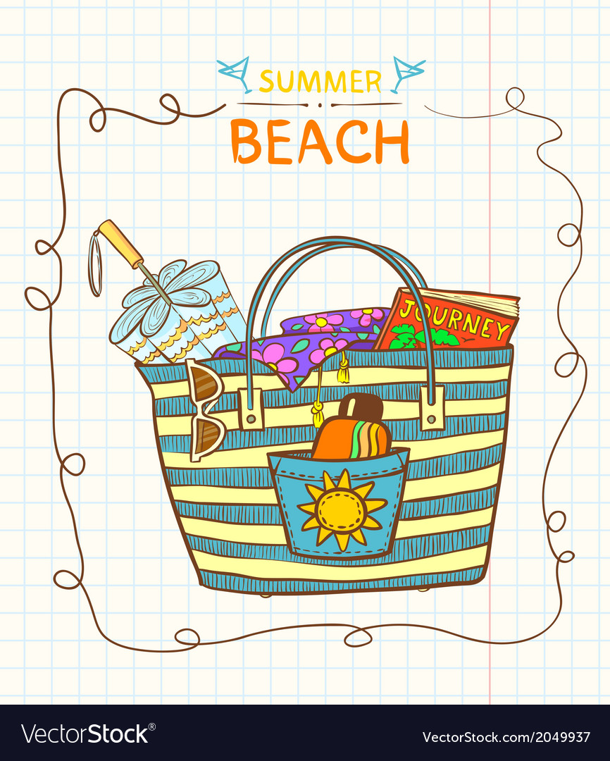 Beach bag vector | Price: 1 Credit (USD $1)