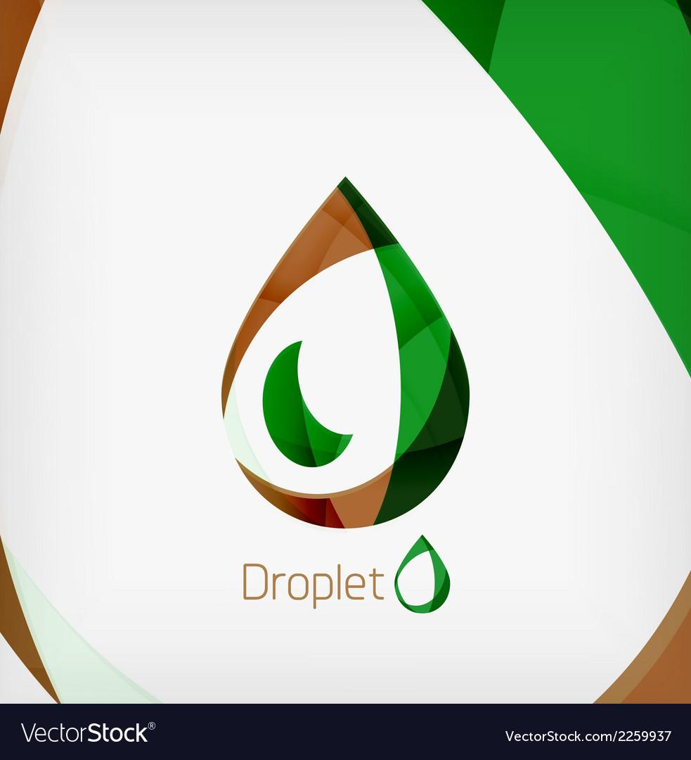Flat water drop geometric shape concept vector | Price: 1 Credit (USD $1)