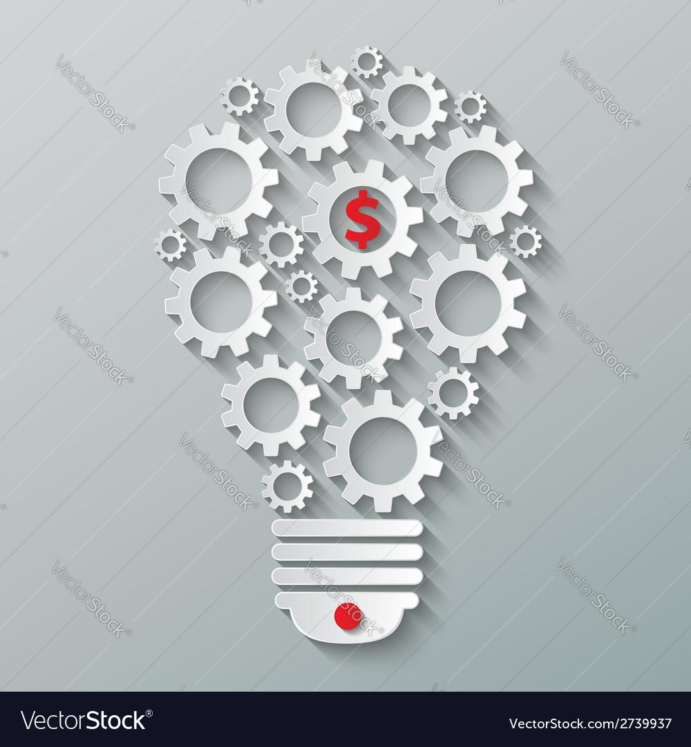 Gear bulb vector | Price: 1 Credit (USD $1)
