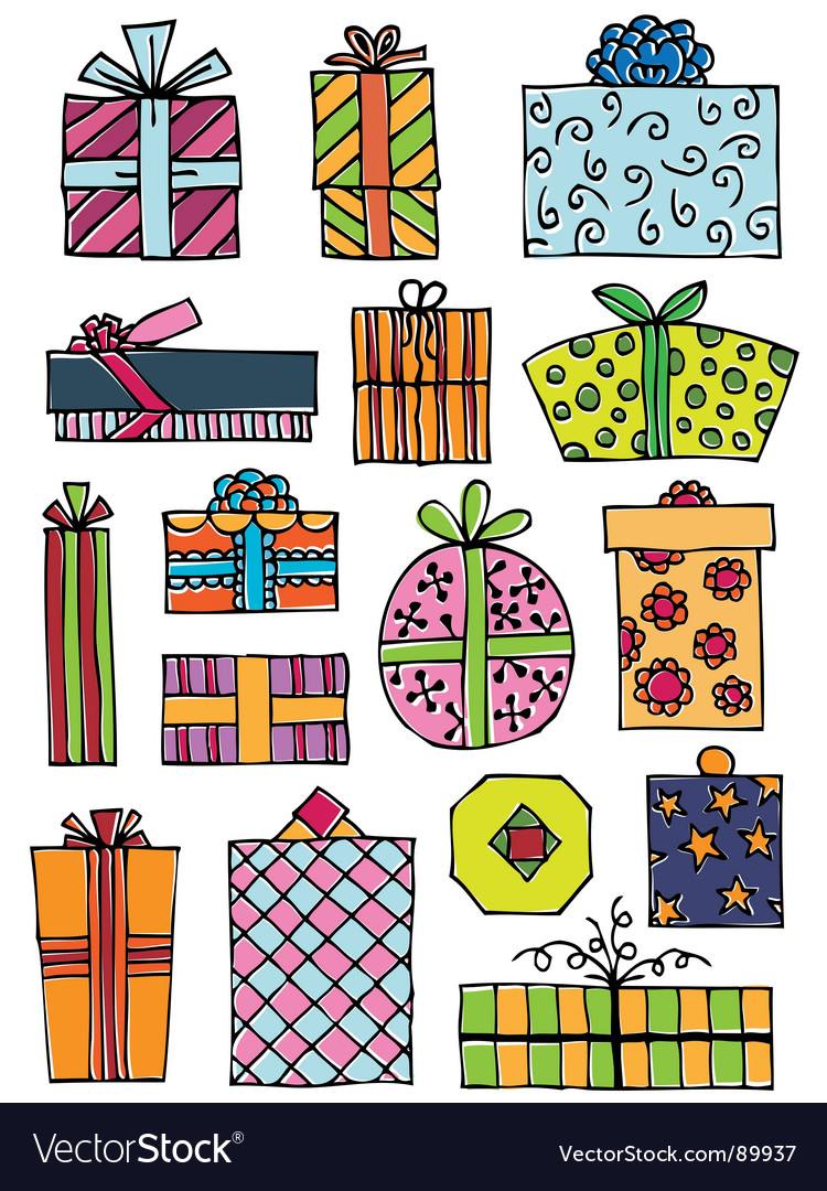 Hand drawn gifts vector | Price: 1 Credit (USD $1)
