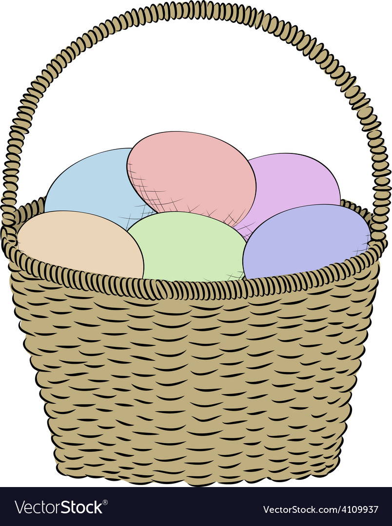 Hand-drawn basket vector | Price: 1 Credit (USD $1)