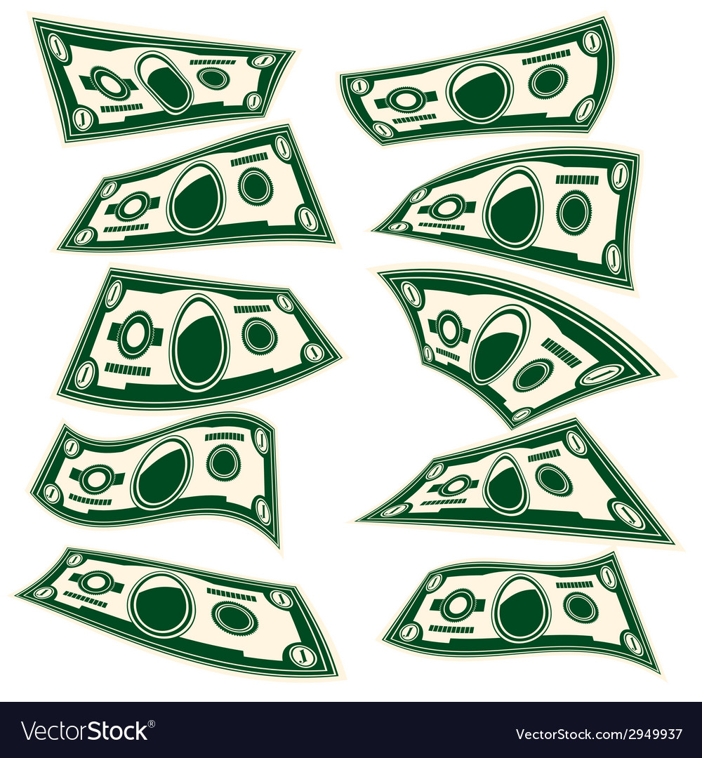One dollar vector | Price: 1 Credit (USD $1)