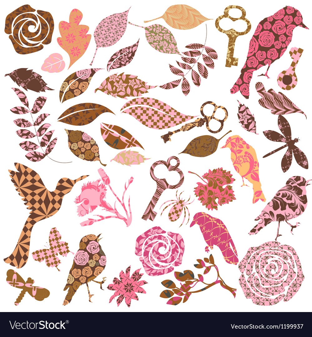 Set of patch silhouettes vector | Price: 1 Credit (USD $1)