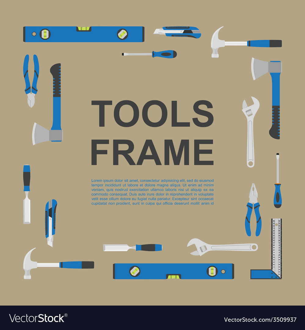 Tools frame 5 vector | Price: 1 Credit (USD $1)